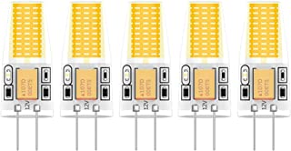 5X G4 Lámpara LED 3W LED Lamps COB Bombilla LED Blanco Cálido 3000K LED Lamps 300LM Iluminación Bombillas AC/DC12V