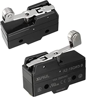 tatoko XZ-15GW3-B SPDT NO+NC Hinge Roller Lever Type Micro Limit Switch with Screw Terminals