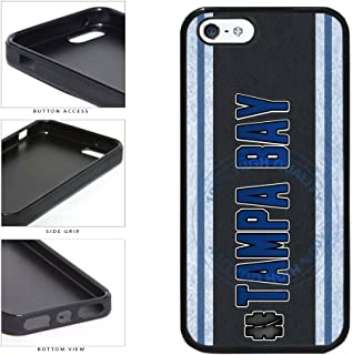 BleuReign(TM) Hockey Team Hashtag Tampa Bay #TampaBay TPU RUBBER SILICONE Phone Case Back Cover For Apple iPhone 5 5s and iPhone SE