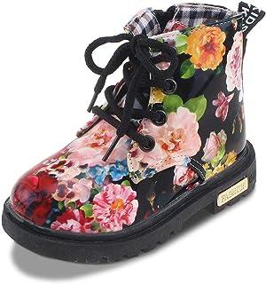 MOREMOO Girls Winter Side Zip Bowknot Warm High Snow Boots Toddler//Little Kid//Big Kid