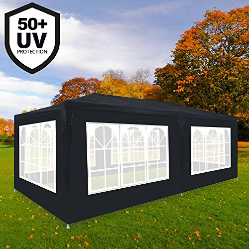 Deuba Garden gazebo marquee RIMINI 3x6m 2,5m - Anthracite - outside cocktail party tent - waterproof