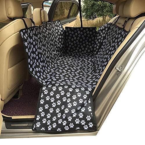 Wmk Dog Vehicle Cargo-Liner Cover, Hundesitzabdeckungs-Bett-Bodenmatte Nonslip wasserdichte Universell for Auto SUV LKW Jeeps Vans Grau (Farbe : Black Paw Prints)