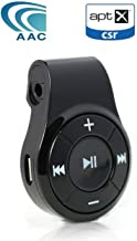 Bluetooth Receiver/Car Kit, Bluebyte Clip Bluetooth Receiver for Headphones or car Audio,Wireless Audio Adapter Support Hands-Free Calling,Bluetooth CSR 4.1,AAC,APTX Low Latency for Music(Black).