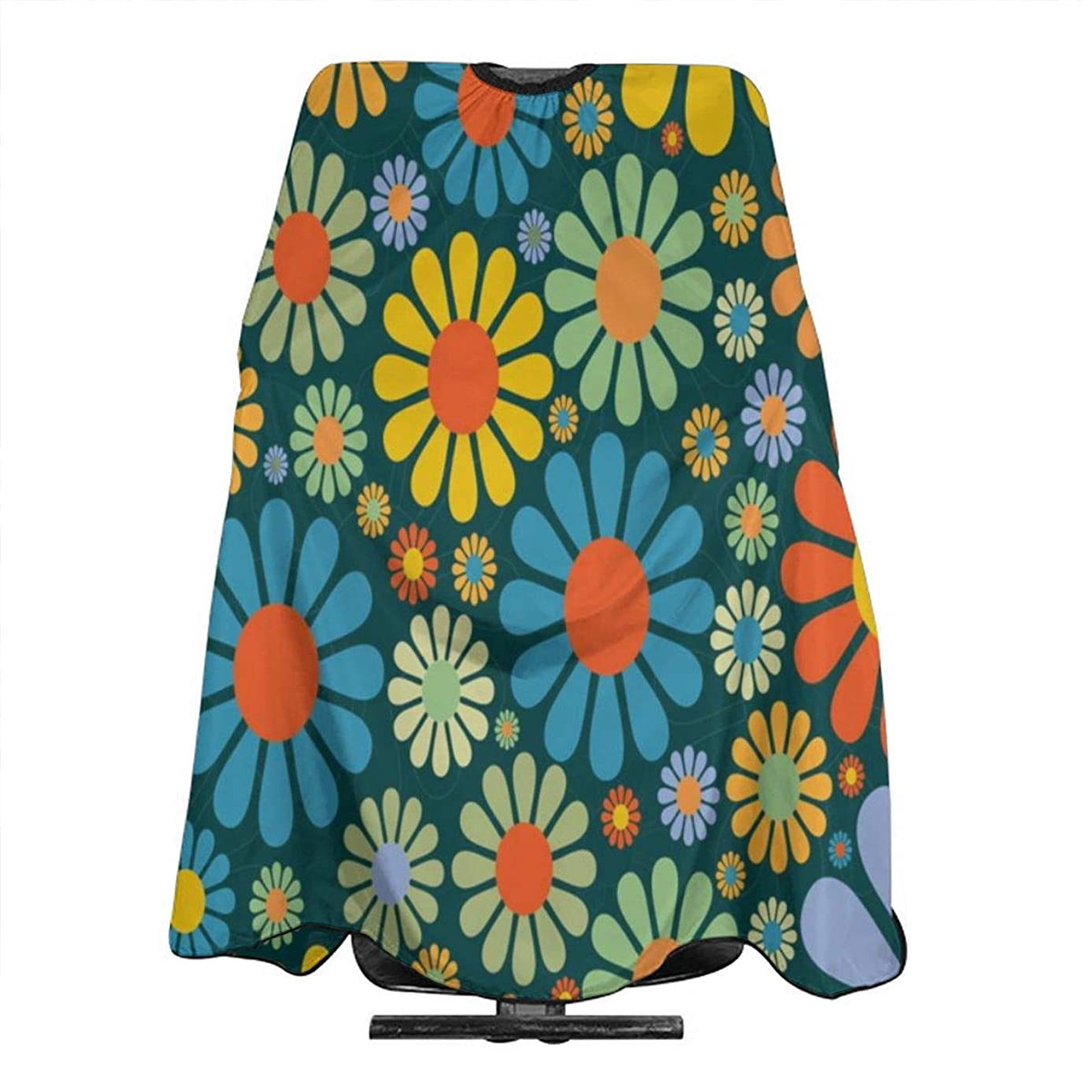 Flower Power Party Barber Salon Cape Apron for Styling Hair Cut Hairdresser Profession/Home Barbershop Supplies Bib Kit for Adult/Women/Men 55