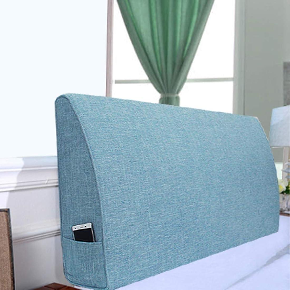 箱リビジョンコミュニティコンフォート ベッドウェッジ枕-ソファベッド オフィス椅子クッション, 読書枕 ソリッドトライアングルクッション布張り ベッド ヘッドボード ベッド バックレスト 枕 取り外し可能な畳-13