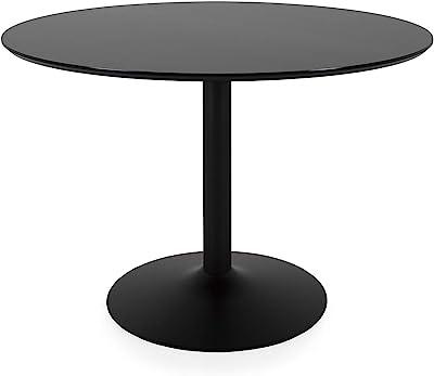 TENZO 3210-909 Taco Designer Table Salle à Manger Ronde, Noir, MDF, H 74 x Ø 110 cm (HxLxP)