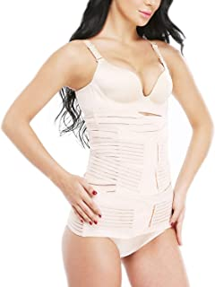 32b083243f SLIMBELLE 3 in 1 Postpartum Support Recovery Belly Wrap Postnatal C Section Belt  Girdle