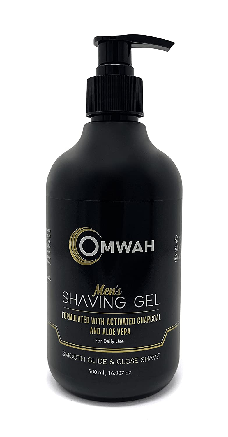 OMWAH Men Shaving Gel - Limited Special Price With Vera and Charcoal Sale Special Price Aloe Activated