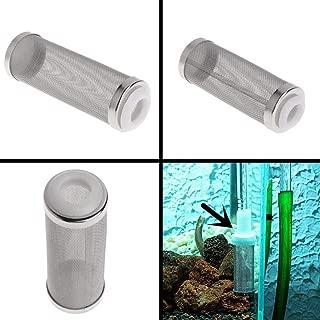 POPETPOP 12mm Stainless Steel Mesh Filter Media Cover for Aquarium Percolator