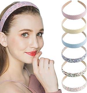 Buspoll Satin Headbands, 1 Inch 2.54cm Wide Ribbon Hairband Bandana Hair Accessories Floral Head Wrap Vintage Elastic Hair...