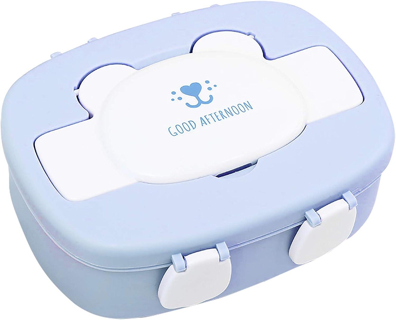 Miystn Fiambrera Infantil Compartimentos, Caja Almuerzo Infantile, Fiambrera Niña, Portátil Lunch Box Picnic Contenedor, para Niños y Niñas (1 Pieza, púrpura)