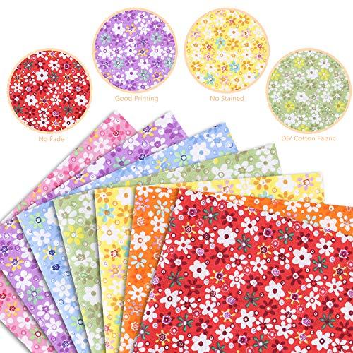 Baumwollstoffe zum nähen meterware Kinder Mehrfarbig DIY Stoffpaket 7 Stück 50x50cm Stoffe Paket Patchwork Nähstoffe für Nähen und Heimwerken TYPE A