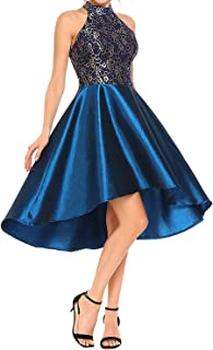 Orita Women Vintage Halter Floral Lace Evening Ball Gown Party Dress Long Formal Prom Dress