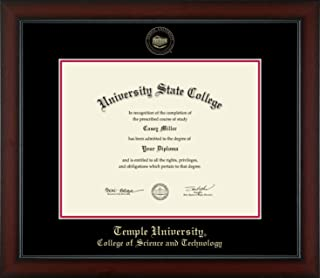 Temple University College of Science and Technology - Officially Licensed - Gold Embossed Diploma Frame - Diploma Size 14