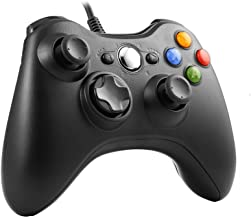 Wired Controller for Xbox 360,TGJOR Wired USB Game Controller Gamepad Joystick with Shoulders Buttons for Microsoft Xbox & Slim 360 PC Windows PC (Black)
