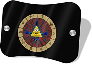 Layapan Door Sign Bill Cipher Gravity Falls Wall Decorative Signs Plaques for Offices Hotels Stores Home Decor
