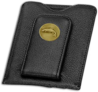 Indiana Metal Craft Credit Card Money Clip Black with Brass Trout Emblem. SG158502A IMC-