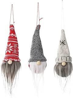 Gnome Christmas Ornaments Set of 3, Handmade Faceless Santa Tomte Gnomes Plush Scandinavian Santa Elf Table Ornaments Christmas Tree Hanging Decoration Home Decor (christmas decorations, Home Decor)