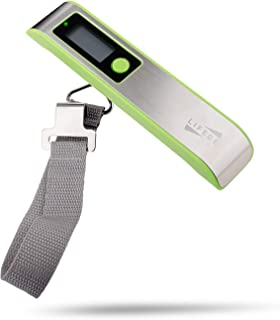 Lifede Digital Hanging Postal Luggage Scale,110lbs,Stainless Steel and ABS,Gift for Traveler, Green.