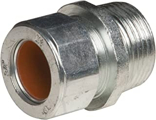 Insulated Hubbell-Raco 2914 Connector EMT Compression 1 Pack of 25 Steel