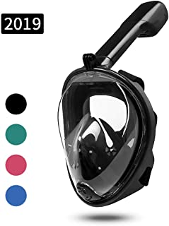 MOUNTDOG Snorkel Mask Full Face Snorkeling Mask with Panoramic View and Action Camera Mount,Anti-Fog and Anti-Leak Design Dive Mask for Adults and Youth