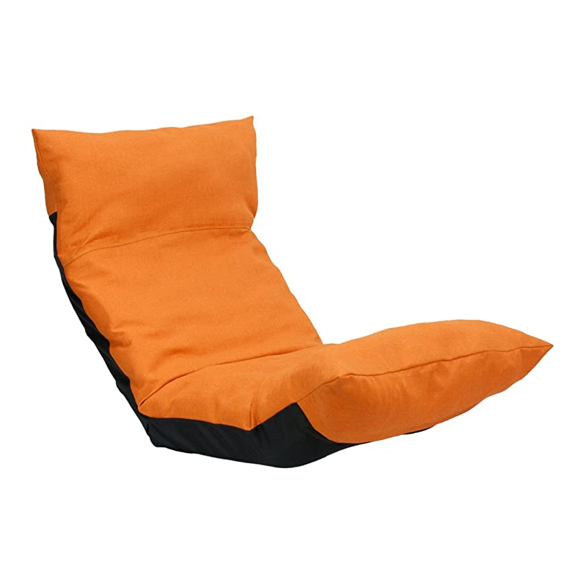 桁アラートインポートウェーブチェア CBC313 オレンジ 腰痛 日本製 リクライニング 姿勢 人気 ヘッドリクライニング ハイバック