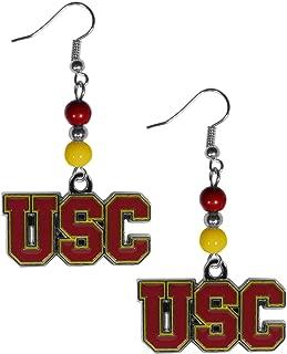 Siskiyou NCAA Fan Bead Dangle Earrings