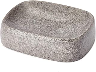 JYXR HOME&LIVING Soap Dish, Sandstone Look Dish Tray, Black Color Soap Holder, Sponge Holder,Soap Saver,Beautifully Crafted Bathroom Accessory
