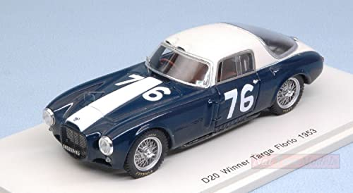 ventas en linea Spark Model S43TF53 Lancia D20 N.76 Die Cast Targa Targa Targa Florio 1953 U.MAGLIOLI 1 43 Compatible con  precios bajos