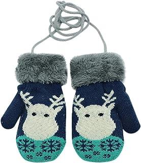 WEXCV Muffole invernali per bambini, da bambina, con pelliccia di peluche, unisex, per bambini, a forma di renna