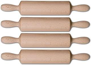 Teigrolle Nudelholz 6 x 47 cm Teigroller mit fester Walze//Rolle