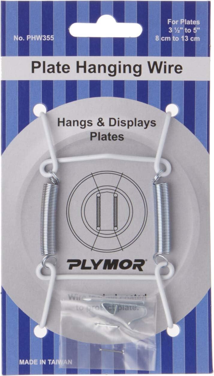 Plymor 5 ☆ popular White Washington Mall Vinyl Wall Mountable 3 3.125