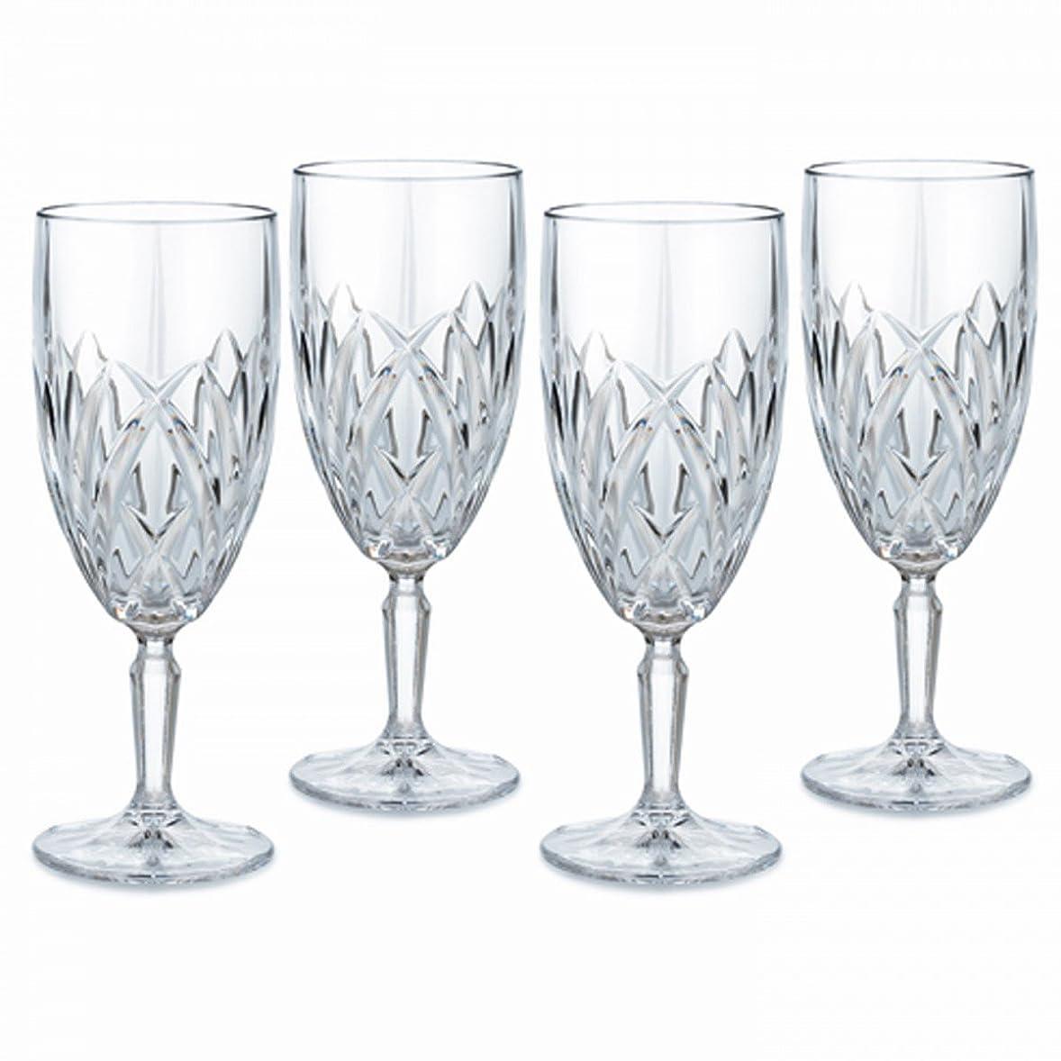 ハウス使役晩ごはんMarquis by Waterford Brookside 12-Ounce Footed Iced-Beverage Goblets, Set of 4 by Marquis By Waterford
