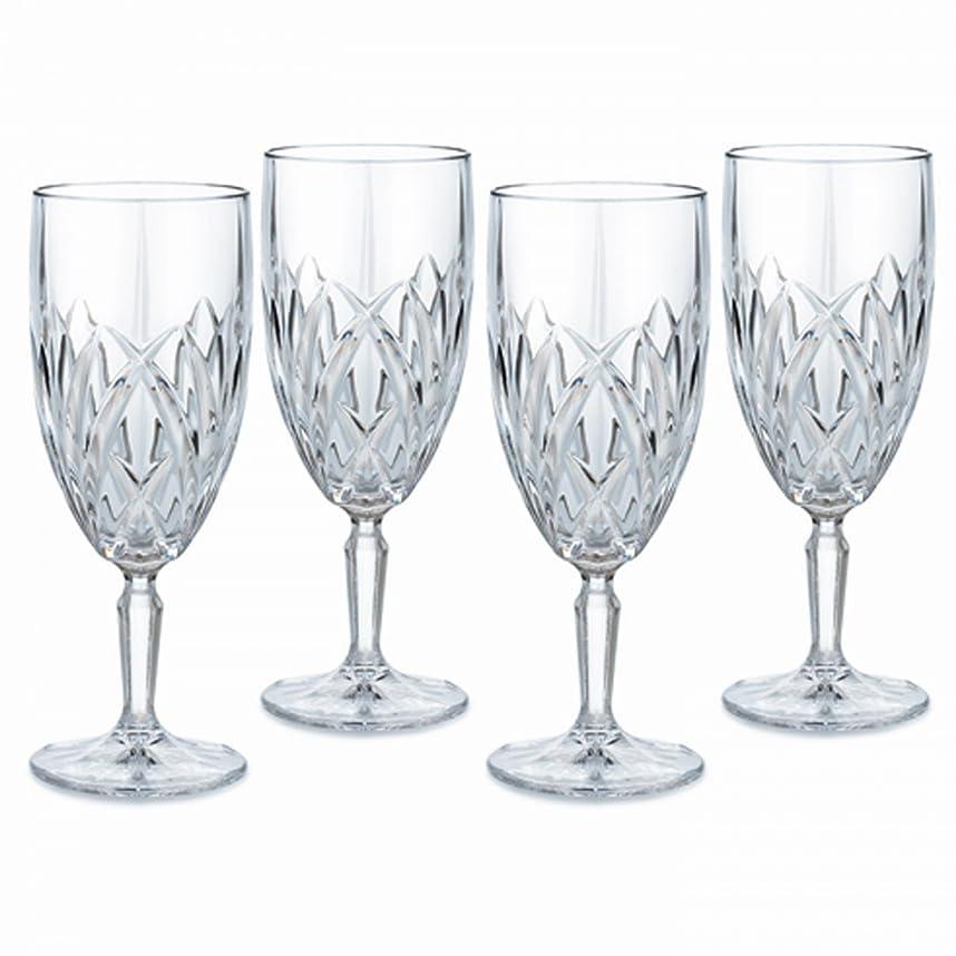 魔法興奮魔法Marquis by Waterford Brookside 12-Ounce Footed Iced-Beverage Goblets, Set of 4 by Marquis By Waterford