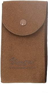 Vinerstar Suede Leather Watch Pouch for Watches with Bracelets Organizer Watch Travel Case (Dark brown)