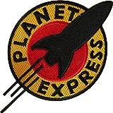 Parche bordado para coser o coser con plancha Futurama Planet Express
