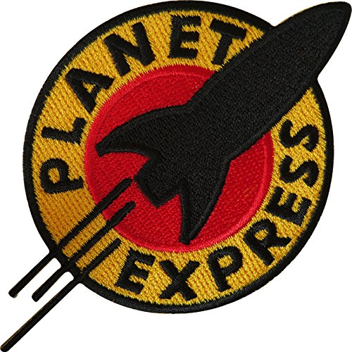 Futurama Planet Express Iron on Sew bordado parche en T Shirt bolsa jeans Badge