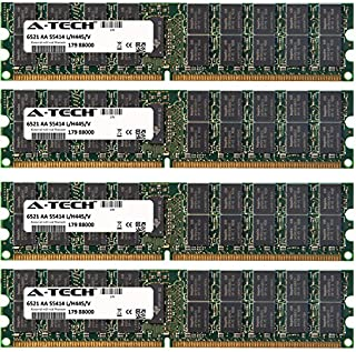 A-Tech 4GB KIT (4 x 1GB) For IBM-Lenovo eServer Series xSeries 260 (8865-xxx) xSeries 336 (8837-xxx) xSeries 346 (8840-xxx) xSeries 460. DIMM DDR2 ECC Registered PC2-5300 667MHz Single Rank RAM Memory