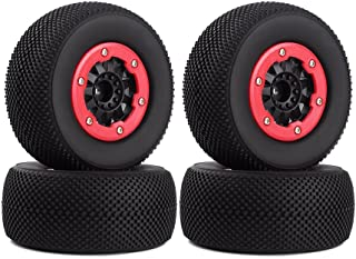 INJORA 4PCS Wheel Rim and Tires for 1:10 RC Short-Course Truck Car TRAXXAS Slash HPI HoBao HuanQi 727