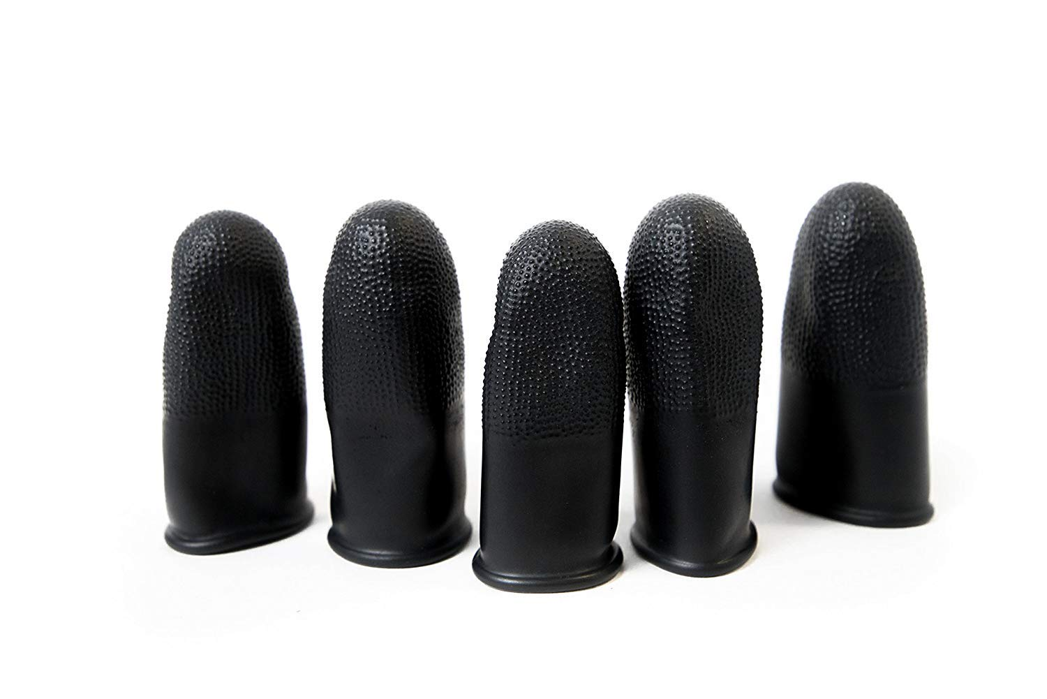 Black Color ESD Finger Cots Medium Pack of 1000 4 Mil Thick