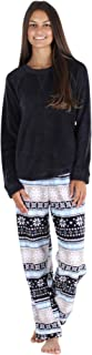 PajamaMania Women's Fleece Long Sleeve Pajamas PJ Set