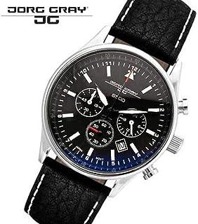 ヨーググレイ JORG GRAY【JG6500】 メンズ 腕時計 バラク・H・オバマ前大統領記念エディションモデル ブラック クロノグラフ シリアルナンバー入り [並行輸入品]