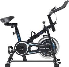 Alpha Sports Exercise Bike Indoor Spinning Bike Cycling Bike, Silent Belt Drive Upright Bike with Heavy Flywheel, Adjustab...