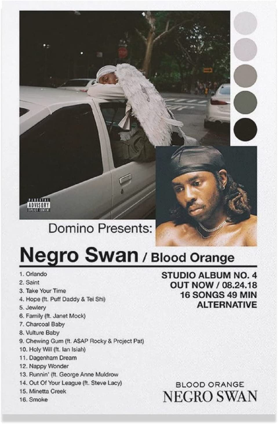 XIANYUB Max 89% OFF Blood Orange Super intense SALE Negro Swan Canvas De Wall Poster Art