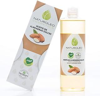 Naturoleo Cosmetics - Aceite Almendras Dulces NAT - 100% Puro y Natural Certificado - 500 ml