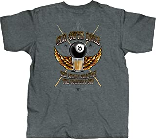 T Shirt for Men | 8-Ball | Cool, Funny Graphic Tee for Dad, Husband, Grandfather Gift | Dark Heather