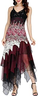 Ever-Pretty Vestido de Fiesta Noche Asimétrico en Encaje Volantes Escote Mujer 6212B