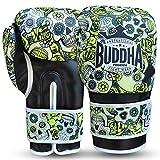 Buddha Fight Wear Guantes de Boxeo Mexican Premium (10 Onz, Amarillo)