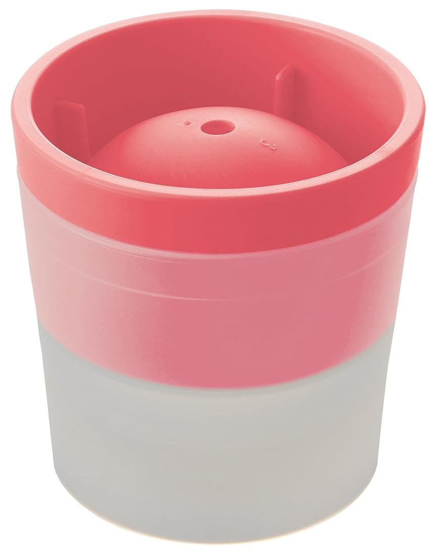 エジプト徴収シェアlike-it 丸氷 製氷器 アイスボールメーカー (俺の丸氷) ピンク 直径6cm STK-06L