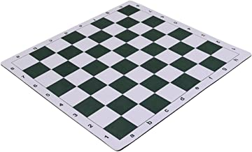 Wholesale Chess 20 Tournament Mousepad Style Roll-Up Chess Board - Forest Green by Wholesale Chess